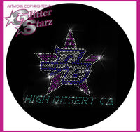Pacific Beach High Desert Sparkle Hoodie with Rhinestone Logo