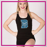 RACERBACK-TANK-TOP-Davis High School-Blue-Devils-Custom-Rhinestone-Tank-Top-With-Bling-Team-Logo-in-Rhinestones