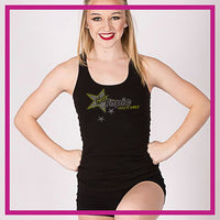 RACERBACK-TANK-TOP-Hot-Topic-Custom-Rhinestone-Tank-Top-With-Bling-Team-Logo-in-Rhinestones