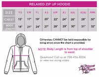 Action Athletics Relaxed Zip Up Hoodie with Rhinestone Logo