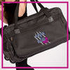ROLLING-DUFFEL-fear-the-bow-GlitterStarz-Rhinestone-Bling-Bags-with-Team-Logo-Backpacks-and Travel Bags