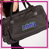 ROLLING-DUFFEL-infinity-athletics-GlitterStarz-Rhinestone-Bling-Bags-with-Team-Logo-Backpacks-and Travel Bags