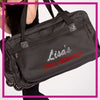 ROLLING-DUFFEL-lisas-dance-boutique-GlitterStarz-Rhinestone-Bling-Bags-with-Team-Logo-Backpacks-and Travel Bags