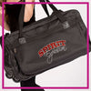 ROLLING-DUFFEL-spirit-explosion-script--GlitterStarz-Rhinestone-Bling-Bags-with-Team-Logo-Backpacks-and Travel Bags