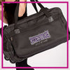 Prestige All Stars Bling Rolling Duffel Bag with Rhinestone Logo