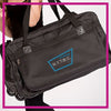 NYTBC Bling Rolling Duffel Bag with Rhinestone Logo