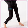 NYTBC Bling Leggings with Rhinestone Logo
