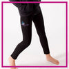 Ignite Bling Leggings with Rhinestone Logo