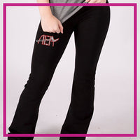 ROLLOVER-YOGA-PANTS-airborne-elite-GlitterStarz-Custom-RHinestone-Yoga-Pants-with-Bling-team-logos
