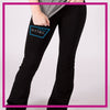 NYTBC Bling Yoga Pants with Rhinestone Logo