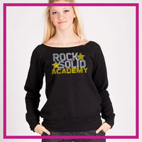 SLOUCH-SWEATSHIRT-Rock-Solid-GlitterStarz-Custom-Sweatshirts-with-bling-team-logos-rhinestone