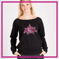 SLOUCH-SWEATSHIRT-alpha-athletics-GlitterStarz-Custom-Sweatshirts-with-bling-team-logos-rhinestone