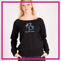 SLOUCH-SWEATSHIRT-bay-state-GlitterStarz-Custom-Sweatshirts-with-bling-team-logos-rhinestone