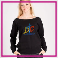 SLOUCH-SWEATSHIRT-dancing-through-the-curriculum-GlitterStarz-Custom-Sweatshirts-with-bling-team-logos-rhinestone