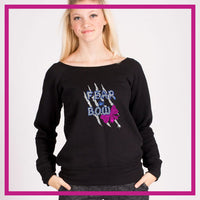 SLOUCH-SWEATSHIRT-fear-the-bow-GlitterStarz-Custom-Sweatshirts-with-bling-team-logos-rhinestone