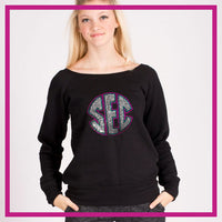 SLOUCH-SWEATSHIRT-south-elite-coast-GlitterStarz-Custom-Sweatshirts-with-bling-team-logos-rhinestone
