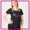 Ignite Bling Sparkle Tee with Rhinestone Logo