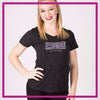 Prestige All Stars Bling Sparkle Tee with Rhinestone Logo