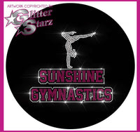 Sunshine Gymnastics Bling Fleece Jacket with Rhinestone Logo