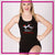 Lisa's Dance Boutique Bling Fitted Tank with Racerback & Rhinestone Logo