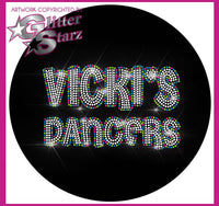 Vicki's Dancers Everyday Essential Tank with Rhinestone Logo