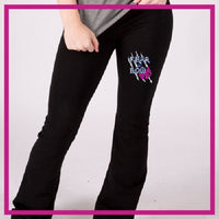 YOGA-PANTS-fear-the-bow-GlitterStarz-Custom-RHinestone-Yoga-Pants-with-Bling-team-logos