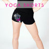 GlitterStarz Bling Basics Yoga Shorts with Rhinestone Logo