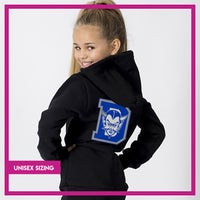 Davis High School Blue Devils Relaxed Zip Hoodie with Vinyl Logo