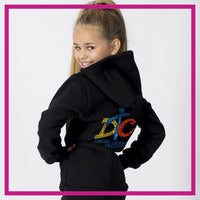 ZIP-UP-HOODIE-dancing-through-the-curriculum-GlitterStarz-Custom-Rhineston-Hoodie-with-Bling-Team-Logo-Cheerleading-Dance