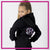 Shore Thunder Starz Cheer and Dance Relaxed Zip Up Hoodie with Rhinestone Logo
