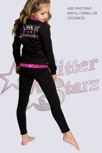 GlitterStarz Cat Scratch Warm Up with Team Rhinestone Logo