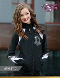 GlitterStarz Athletic Warm Up with custom Team Logo