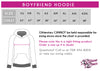 Caledonia Dance and Music Center Bling Boyfriend Hoodie with Rhinestone Logo