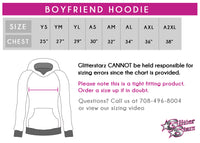 Dancing Through the Curriculum Bling Boyfriend Hoodie with Rhinestone Logo