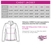 Don't Let Anyone Dull Your Sparkle! Fashion Bling Cadet Jacket with Rhinestone Logo