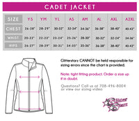 GlitterStarz GlitterGirl Fashion Bling Cadet Jacket with Rhinestone Logo