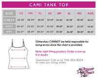 Arkansas Cheer Elite Bling Cami Tank Top with Rhinestone Logo