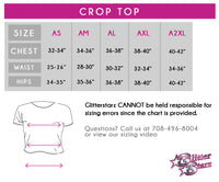 My Heart Beats in 8 Counts Bling Crop Top with Rhinestone Logo