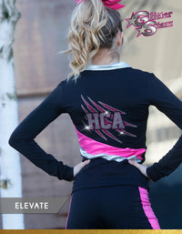 GlitterStarz Elevate Warm Up with Custom Rhinestone Embellishment