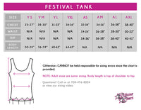 Lincoln Way East Bling Festival Tank with Rhinestone Logo