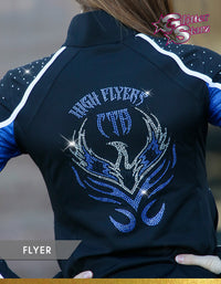 GlitterStarz Flyer Warm Up with custom Team Logo