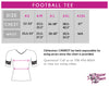 YDA Dance Football Tee with Rhinestone Logo