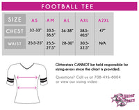 Don't Let Anyone Dull Your Sparkle! Fashion Bling Football Tee with Rhinestone Logo
