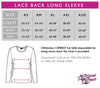 Airborne Elite Athletics Bling Long Sleeve Lace Back Shirt with Rhinestone Logo