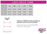 Alpha Athletics Bling Lace Tank with Rhinestone Logo