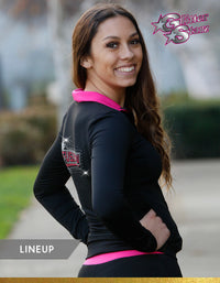 GlitterStarz Line Up Warm Up with Custom Rhinestone Embellishment
