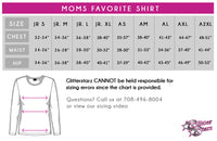 Lincoln Way West Moms Favorite Bling Top with Rhinestone Logo