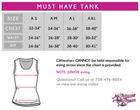 MHS Dance Team Bling Must Have Tank with Rhinestone Logo