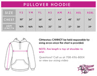Don't Let Anyone Dull Your Sparkle! Fashion Bling Pullover Hoodie with Rhinestone Logo