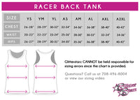 Blizz Allstar Cheerleading Fitted Tank with Racerback & Rhinestone Logo